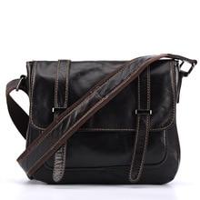 цена на New Genuine Leather Genuine Women's Retro Women's Vintage Messenger Bag Fashion Retractable Handbag Dark Brown Shoulder Bag