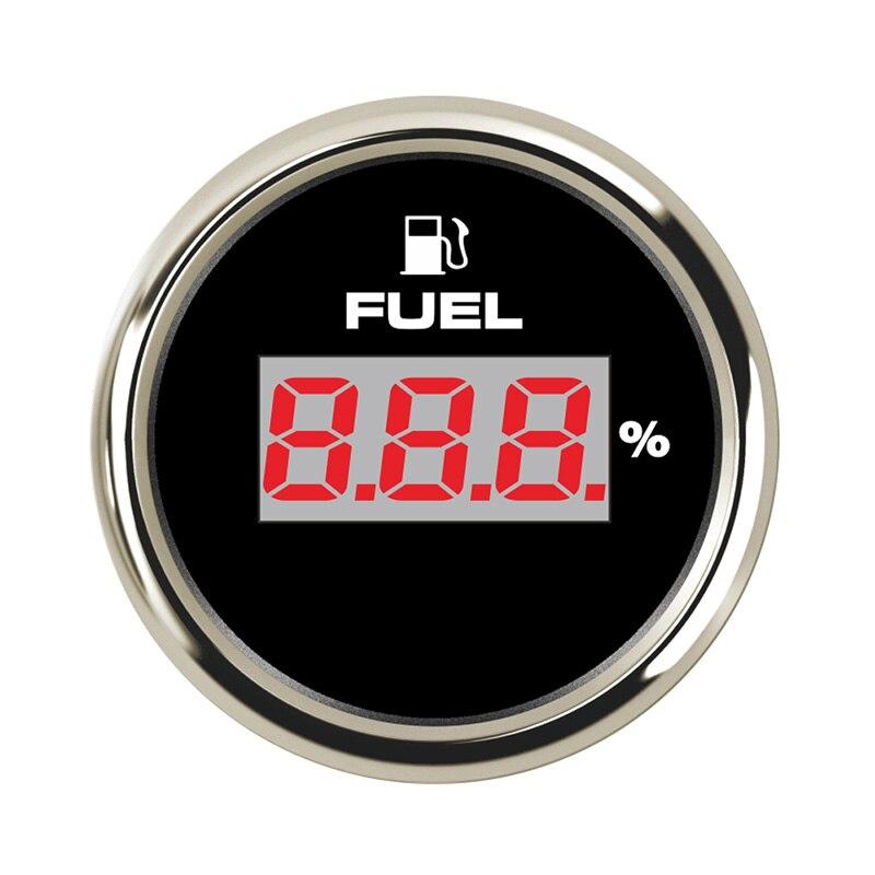 2 ''52 millimetri Marine Indicatore di Livello Del Carburante Indicatore Meter Impermeabile 12 V/24 V Per Auto Barca Camion barca con 8-colore della Retroilluminazione regolabile