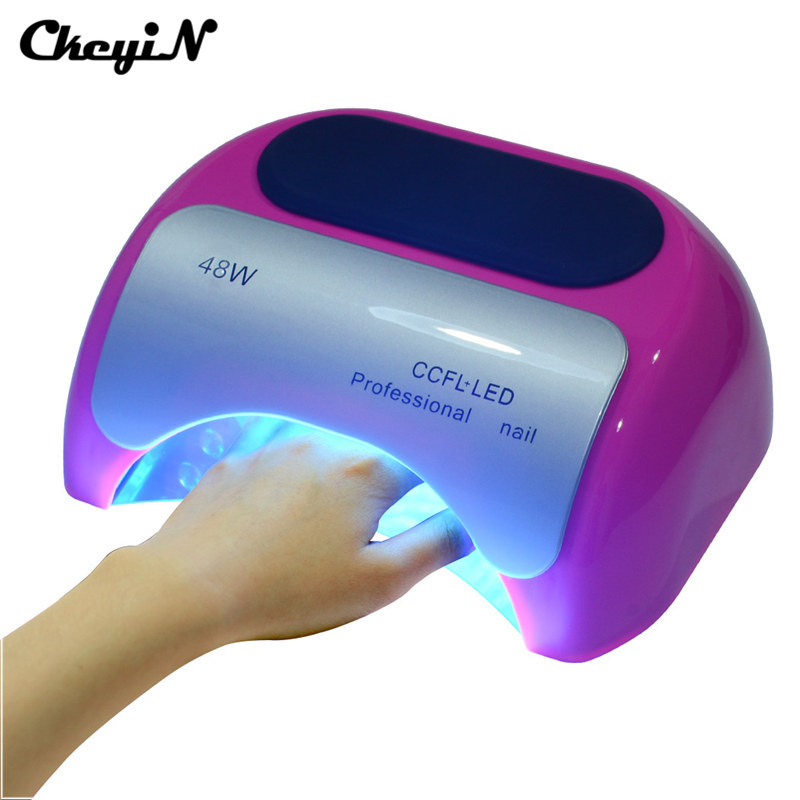 48W UV CCFL LED Nail Dryer LCD Display Lamp Nail Curing Gel Nail Art Tool Set &Kit Infrared Auto-induction Time Setting S46 2016 48w fashion led ccfl gel uv lamp super power fast nail dryer machine gel lampara with automatic induction timer setting