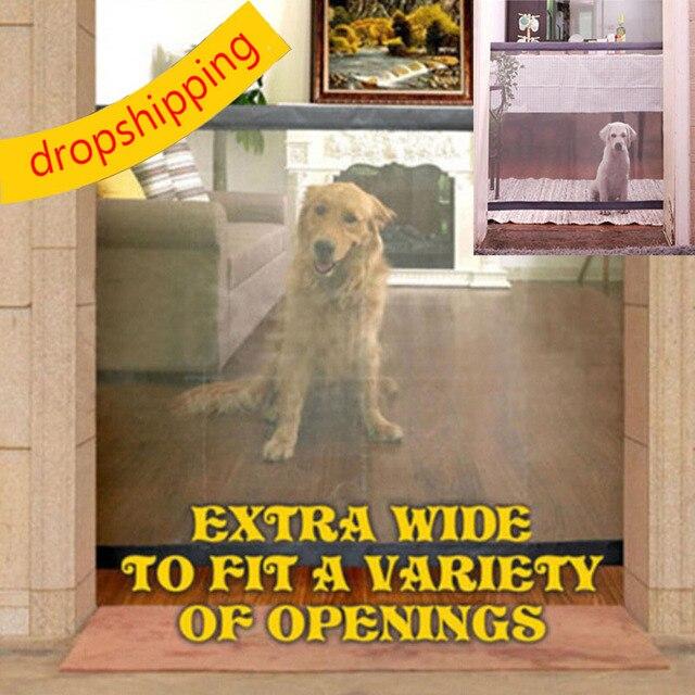 Dropshipping 2018 כלב שער הגאוני רשת קסם שער מחמד לכלבים בטוח משמר ולהתקין לחיות מחמד כלב בטיחות מארז כלב גדרות