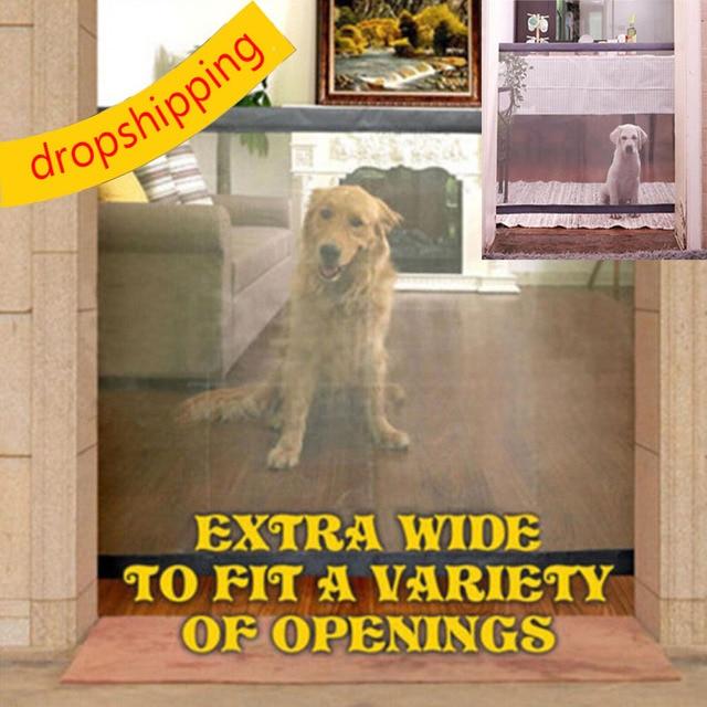 Dropshipping 2018 Dog Gate The Ingenious Mesh Magic Pet Gate For