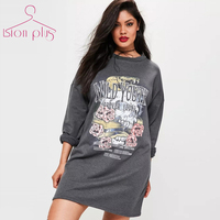 5xl 6xl 7xl Funny Rose Print Sweatshirt Women Big Sizes 2018 Spring Dark Gray Casual Streetwear Letter Long Sleeve Hoodies women