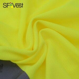 Image 4 - Mens High Visibility Shirt   2 Tone  short sleeve safety reflective work shirt  Summer  Work Wearfree shipping