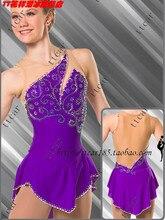 purple ice skating skirt hot sale purple figure skating dress custom ice skating dress girls custome dress for figure