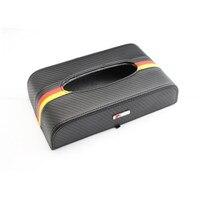Auto Styling kohlefaser Auto Tissue Box Halter-behälter Für AUDI S linie A4 A3 A6 C5 Q7 Q5 A1 A5 TT Q3 A7 RS S3 S4 Zubehör