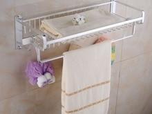 Space aluminum bath towel rack shelf bathroom sanitary ware accessories