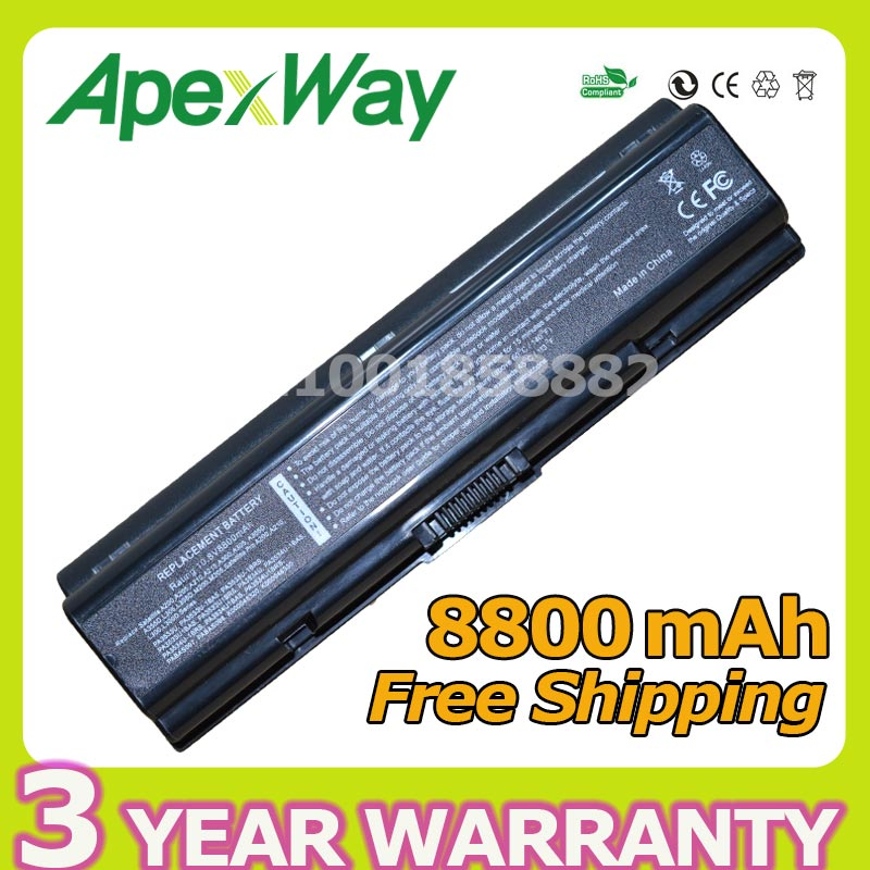 Apexway 8800mAh 12 Cell Laptop Battery For Toshiba PA3533U-1