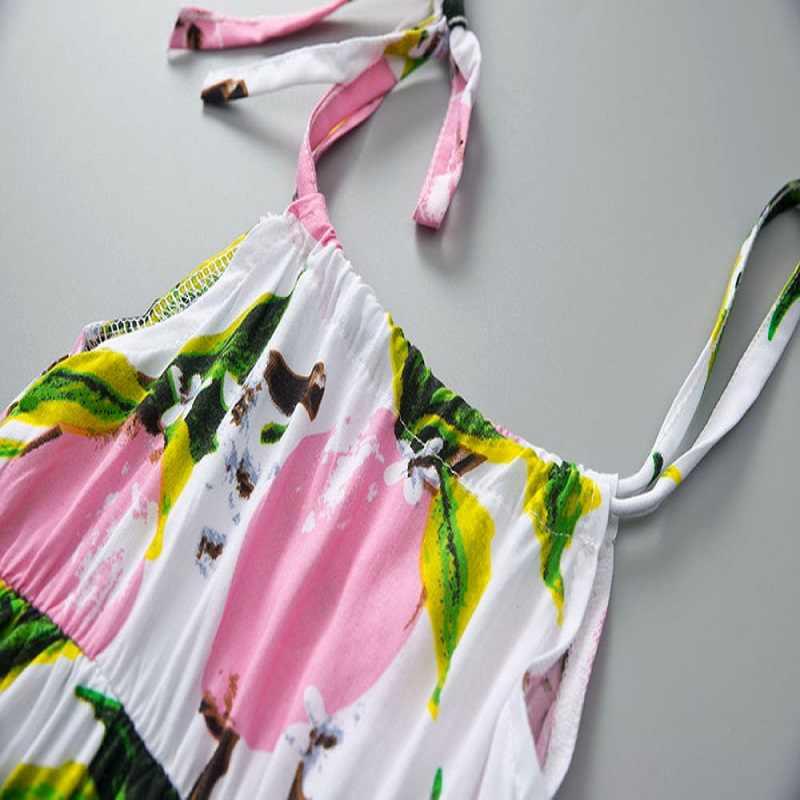 ARLONEET/платье для девочек платье на бретельках для малышей повседневные платья принцессы с принтом фруктов и лимона для девочек от 0 до 2 лет, Прямая доставка, 30S423