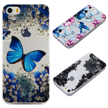Case For iphone 5s 5 SE Small animals Thin Soft Flexible Gel TPU Transparent Skin Relief Bumper for iphone 5s case