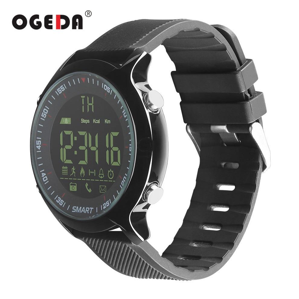 OGEDA Smart Watch Men EX18 Diving 50M Waterproof Pedometer Clock Fitness Bluetooth Phone Message Push Sports Healthy Smart Watch makibes ex18 smart watch silver