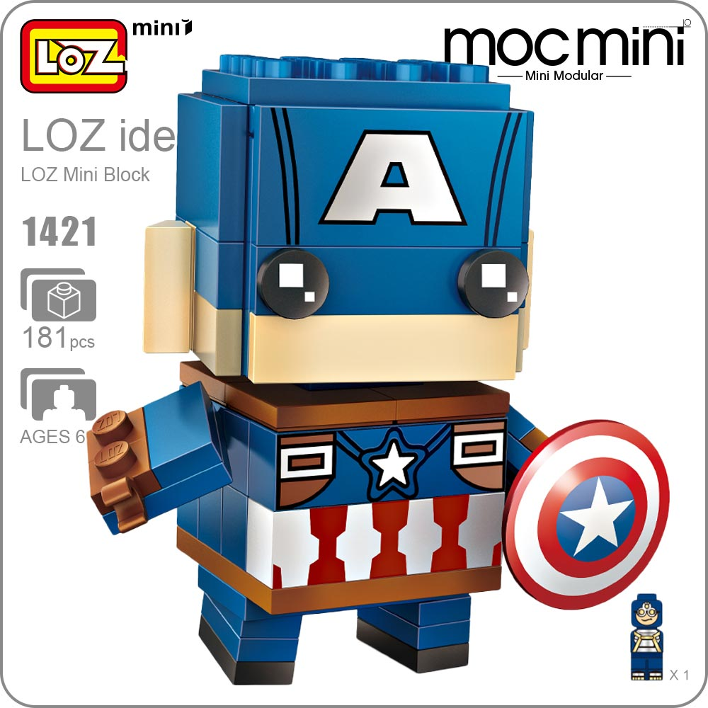 LOZ ideas SuperHero Action Figure Mini Blocks Kids Assembly Toys Figurine Super Hero Children Building Bricks