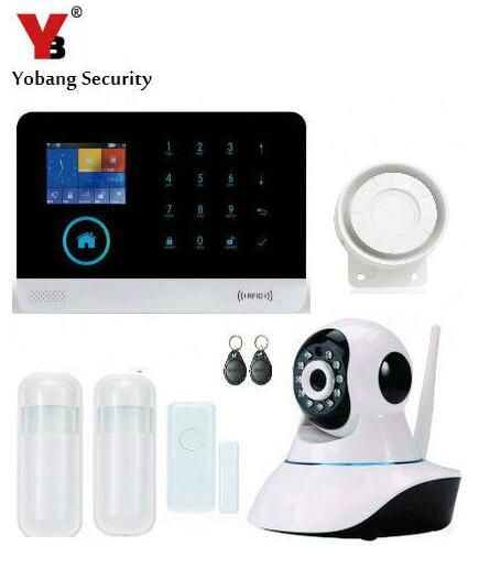 Yobang Security IOS/Android APP Control WiFi 3G Home Alarm Kits Wireless Smart Home Office Business Security 3G Alarm System
