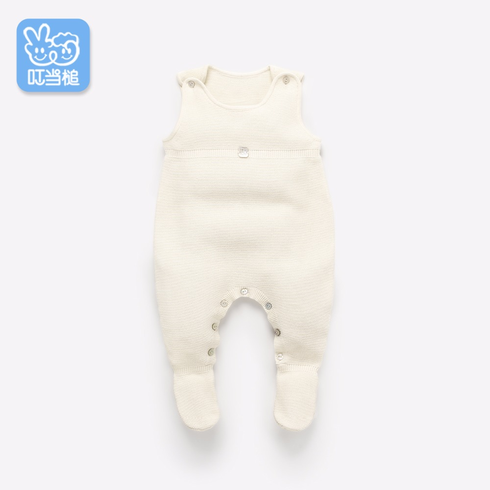 Dinstry Newborn clothes 0-3-6 months Spring and autumn baby wool jersey baby romper dinstry 2018 spring and autumn newborn baby cotton long sleeve romper lion pattern