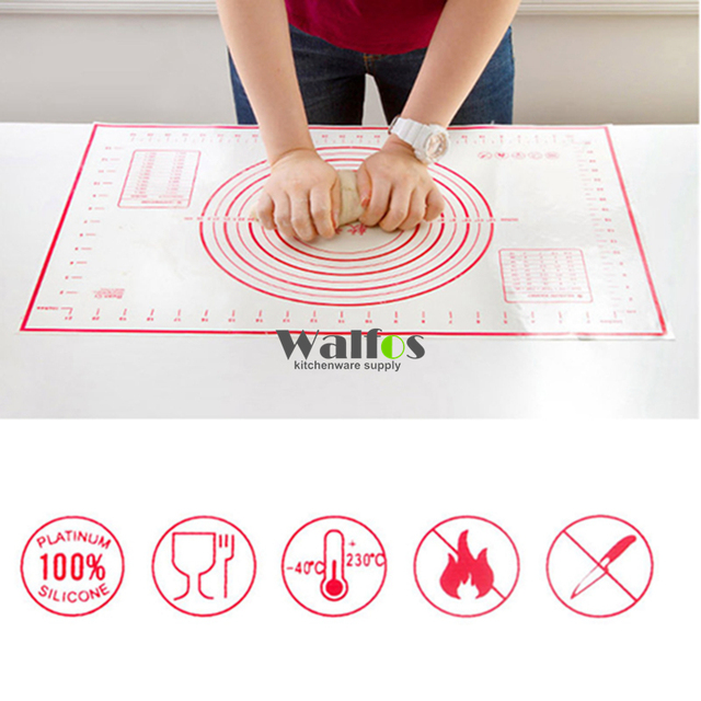 40*60cm Large Size Silicone Baking Mat, Attach Scale Kneading Dough Mat, Non-stick Silicone Baking Rolling Pastry Mat