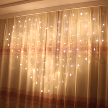 1pcs Love LED Lights Flashing String Lights Chrismas Tree Merry Xmas Wedding Room Decor Curtain Icicle Lights Hanging Lamp T1340