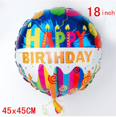 1pcs 18inch Happy Birthday Balloons Foil Round Balloons Children Gift Birthday/Party/Wedding Celebration Decoration Balloons