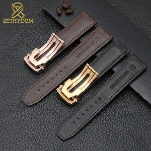Image 4 - Bracelet de montre en cuir véritable de vache, 20mm, 22mm, pour MAURICE LACROIX, boucle pliante, loisirs, business