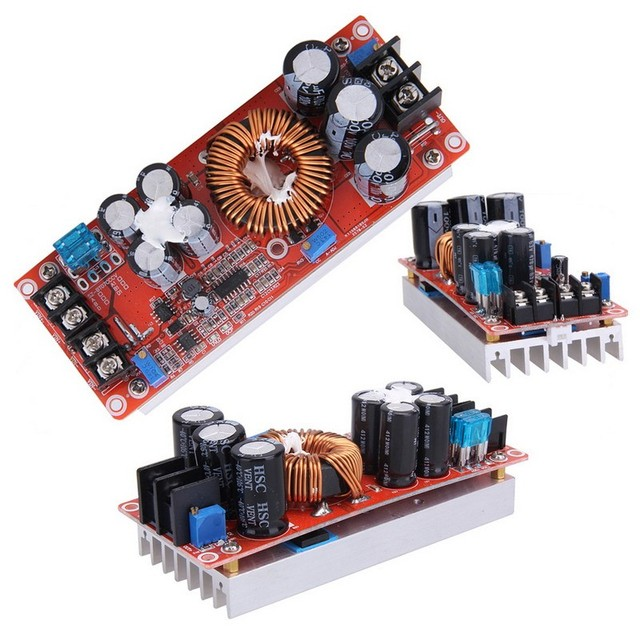 New arrival 1200W DC-DC Boost Converter Power Supply module 8-60V 12V Step up to 12-83V  solderless terminals output Connection