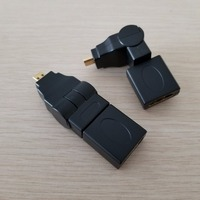 10pcs/lot 360 Degree HDMI Type A to Micro HDMI Adapter Female to Male Black