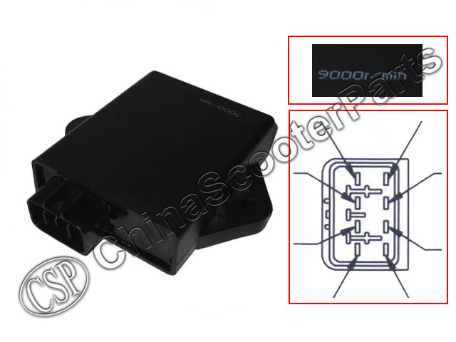 UNLIMITED 8 Pins CDI 9000 RPM VOG YP 250 257 260 275 300  Linhai Xingyue Gsmoon ATV Quad Buggy BUYANG FEISHEN FA-D300 H300 300cc buyang fa k550 n550 feishen ignition coil 550cc atv quad motorcycle ignitor moto gp accessories free shipping