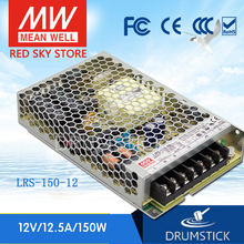 цена на (Only 11.11)MEAN WELL LRS-150-12 (2Pcs) 12V 12.5A meanwell LRS-150 150W Single Output Switching Power Supply