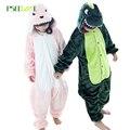 Niños Niños Disfraces de Dibujos Animados ropa de Dormir de Franela Pijamas Animal Anime dinosaurio Onesie animal pijamas pijamas para niños en general