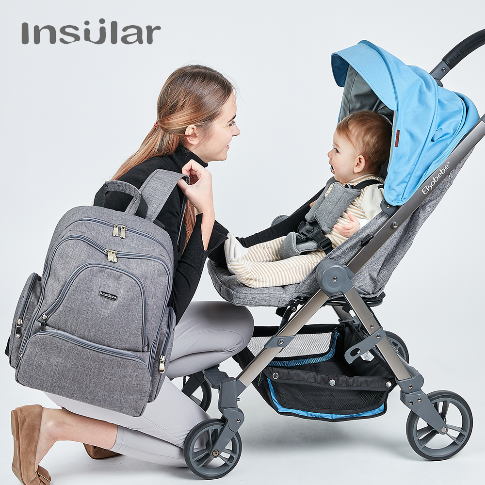 Insular Baby Diaper Backpacks Big Nursing Mom Backpack Maternity Bags for Mother Baby Travel Dad Diaper Bag Nylon Nappy Backpack