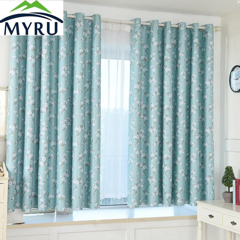 myru jardn estilo verde kapok impresin cortinas de sombreado pao de la cortina cortina cortina dormitorio