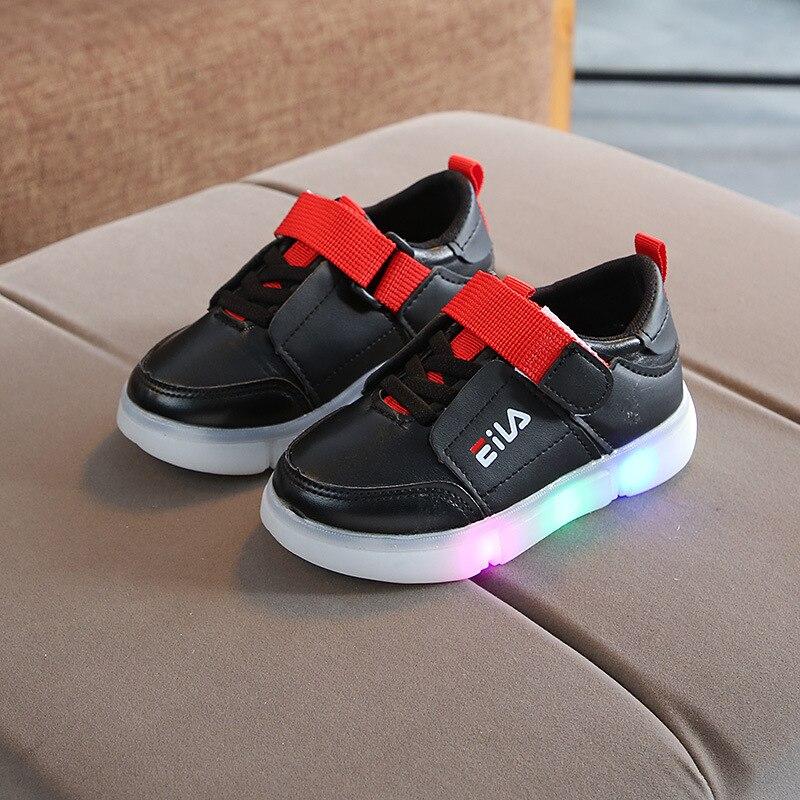 28204741 LED oddychająca lace up dla dzieci trampki oddychające wysokiej jakości  fajne boys baby dziewczyny buty piękne mody dzieci buty w stylu casual