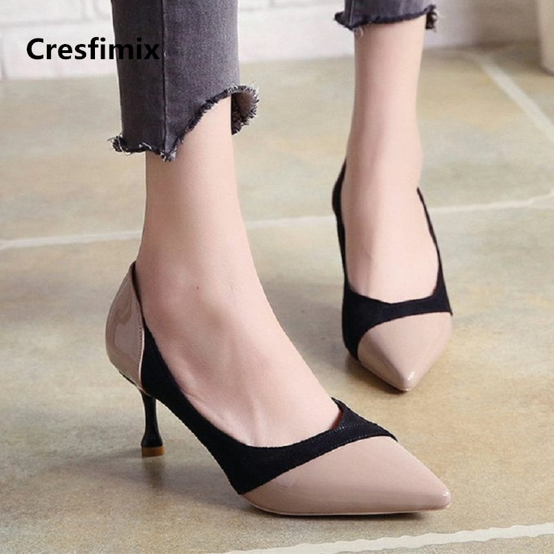 tacones altos women fashion high quality pu leather street high heel shoes lady casual office high heel pumps sexy shoes e721 women high quality pu leather waterproof platform shoes lady cute and sexy party slip on pumps female office high heel shoes