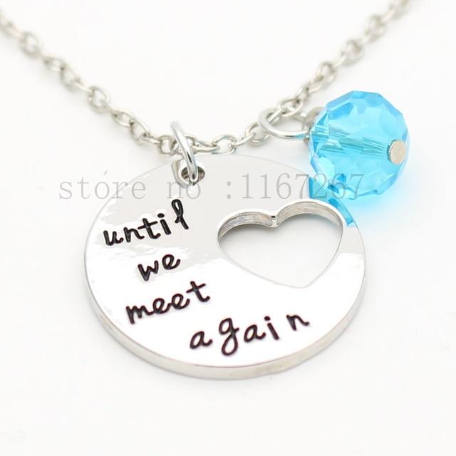 Until we meet again memorial necklace memory necklace keychain until we meet again memorial necklace memory necklace keychain carry you with me remembrance aloadofball Gallery