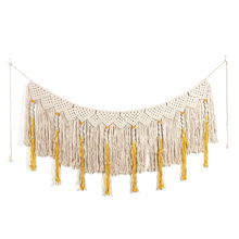 Pure hand-woven curtain tapestry Nordic style stained Home accessories wall decor pendant wedding ornaments macrame