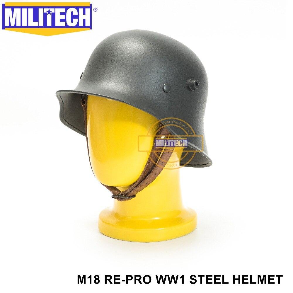 US $59 0 |MILITECH Grey World War One German M18 Helmet Steel Safety Helmet  WW1 Grey German helmet The Great War German Style Helmet-in Safety Helmet