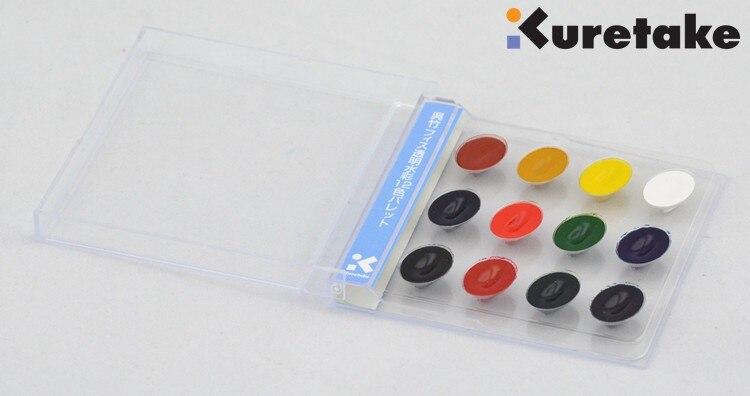 Kuretake de água cor sólida 12 cores