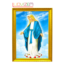 Diamond Embroidery Picture Religious Cross New 30*40Cm Crystal Icon.LUOVIZEM L028