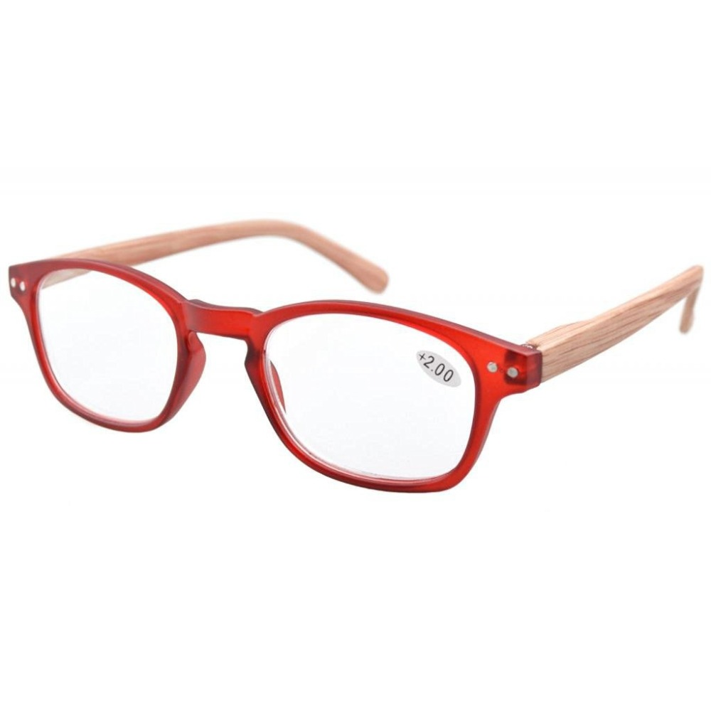58c71b87e39 R034 Eyekepper Spring Hinge Wood-grain Printed Arms Reading Glasses   Reading  Sunglasses with Case +0.50---+4.00
