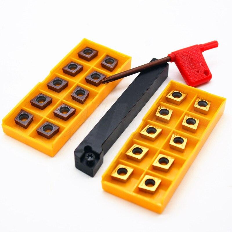10pcs  CCMT09T304 VP15TF SCLCR1212H09 Lathe Turning Tool Holder