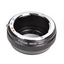 Anel adaptador de lente fotga para nikon ai, lente para panasonic olympus micro 4/3 m4/3 E P1 E P2 E PL3 gh3 gf1