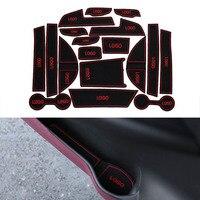 18Pcs Set Car Styling Slot Pad Interior Door Groove Mat Latex Anti Slip Cushion For Buick