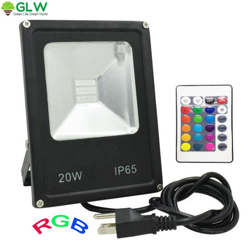 GLW Led 20W Flood Light Led 110V / 220V RGB محوطه سازی - روشنایی بیرون ساختمان