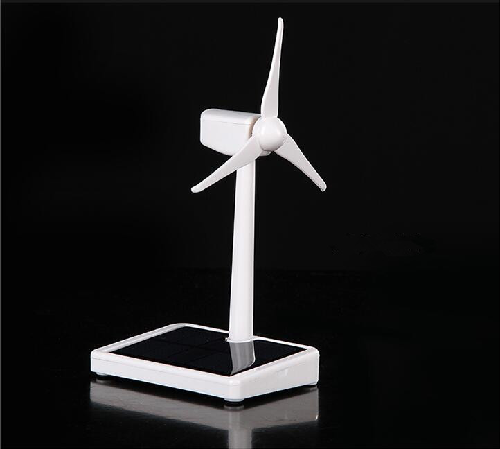 Solar Wind Power Mini Wind Turbine Generator Model Windmill Educational DIY Model Wind-Solar Assembly Kit Car Desktop Decoration