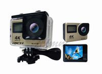 DHL 10pcs/lot T350 ultra FHD 4K Action Camera WiFi 1080P 60fps 2.0 LCD 170D Full HD 30M Waterproof Video Action DV Sports Camera
