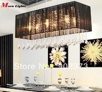 Modern Crystal Pendant Lamps Hanging Rectangular Pending Light Dining Restaurant Lights Crystal Lighting