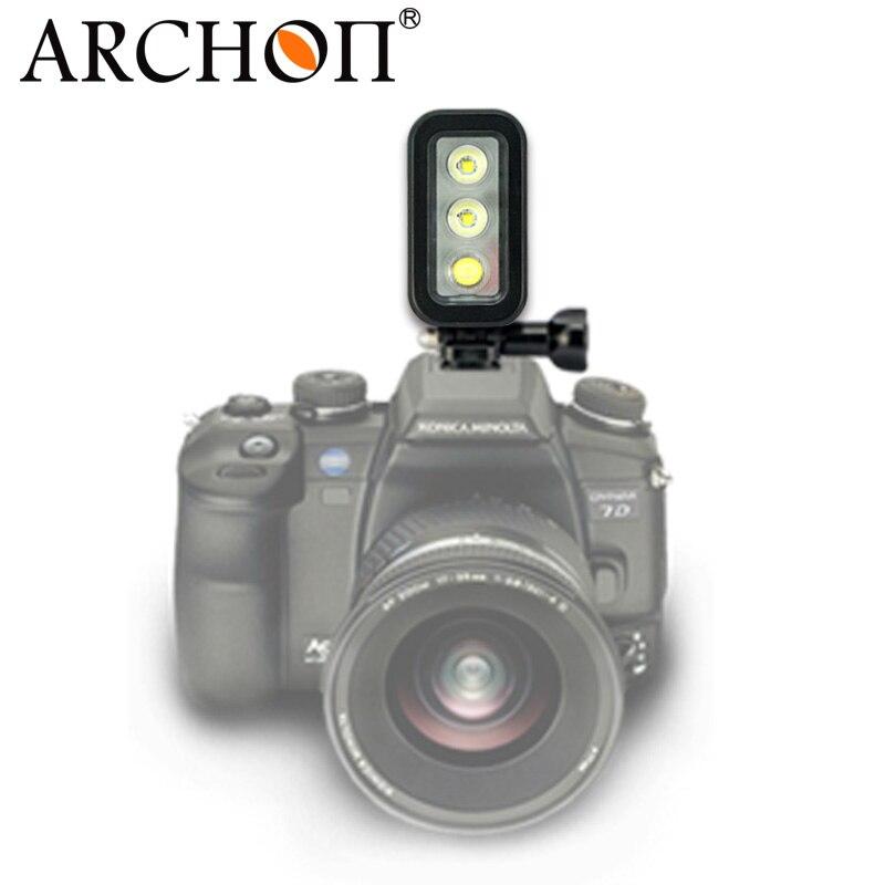ARCHON Водонепроницаемый 60 м Дайвинг видео свет подходит для Go Pro HD 2,3, 4,5 Камера 5500 К встроенный аккумулятор Дайвинг Камера заполняющий свет