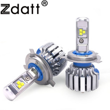 Zdatt H4 Led Light H11 Led Bulb H7 Auto Car Headlight 9003 HB2 12V White Lamp 6000K 80W DRL Car Light Automobiles Passing Beam