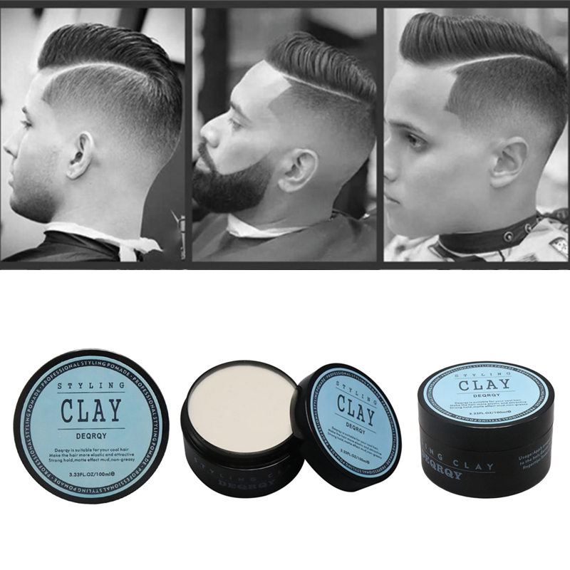 Fashion Matte Finished Hair Styling Clay Daily Use Mens Hair Clay High Strong Hold Low Shine Hair Styling Wax 100ml / 3.33fl Oz