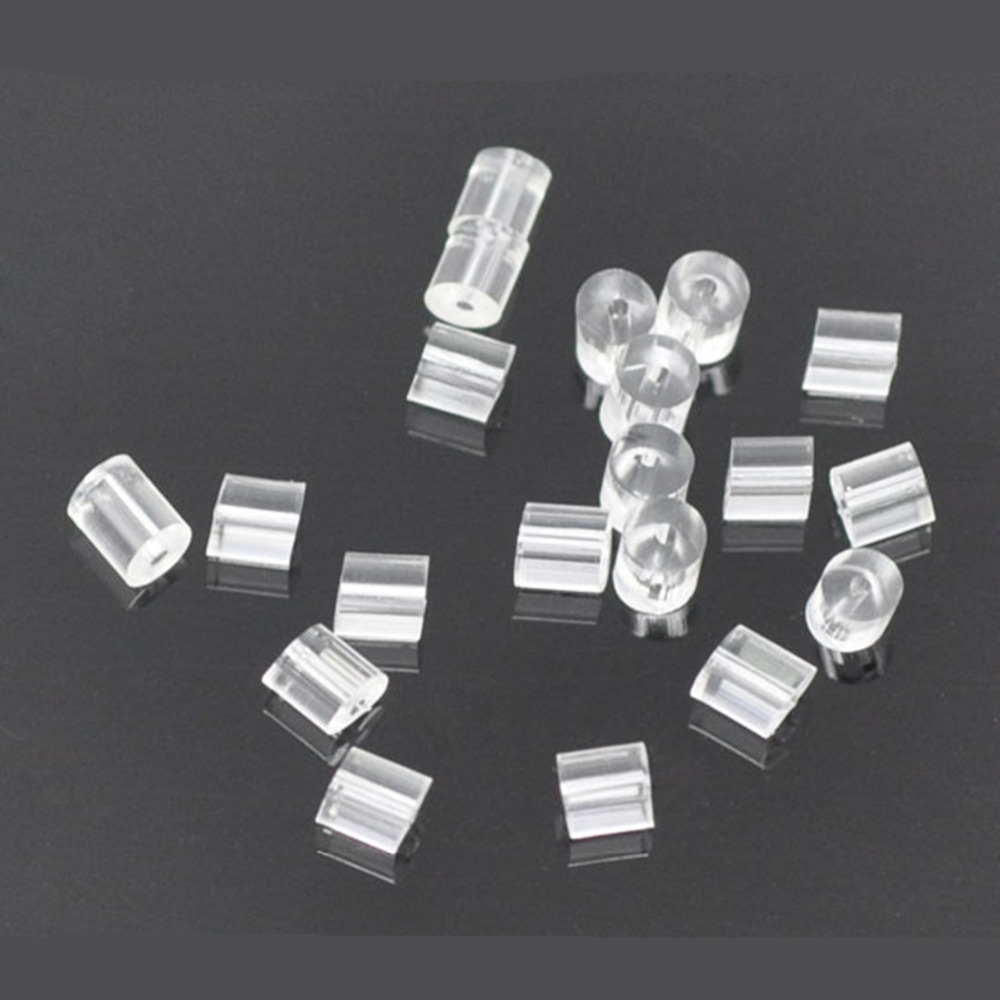 DoreenBeads резиновые ушные гайки, стопор для сережек, фурнитура для ювелирных изделий, прозрачные цилиндрические серьги, аксессуары 3 мм x 3 мм, 150 ...