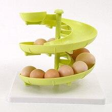 1 Piece High Quality Creative Spiral Egg Racks Kitchen Organizer Fruit Storage Holders Container HS-108137