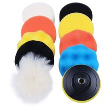 10pcs/set Automobile Car Polishing Pad Set Vehicle Cleaning Washing Polish Sponge Wheel