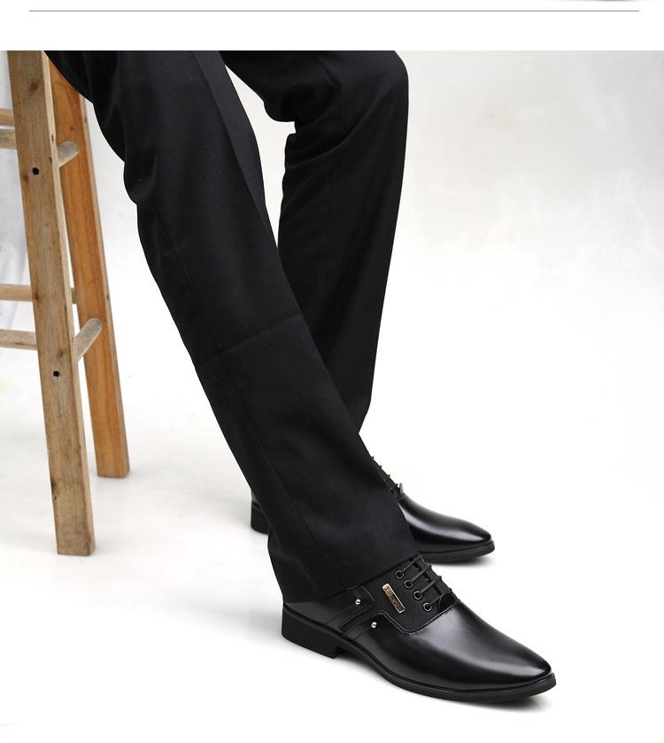 NPEZKGC Men Dress Shoes Slip-on Black Oxford Shoes For Men Flats Leather Fashion Men Shoes Breathable Comfortable Zapatos Hombre 4